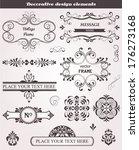 vector set of floral vintage...   Shutterstock .eps vector #176273168