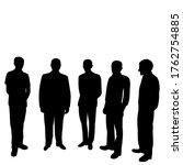 black silhouette men group stand | Shutterstock .eps vector #1762754885