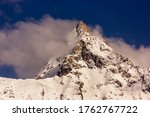 A Snow Capped Peak Of The...