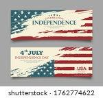 celebration flag of america...   Shutterstock .eps vector #1762774622