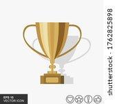 trophy icon vector symbol...