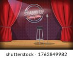 stand up empty stage. scene of... | Shutterstock .eps vector #1762849982