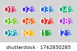 bullet points  info markers....   Shutterstock .eps vector #1762850285