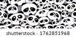 Pattern Of Funny Drawed Pandas...