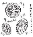 decorated plate | Shutterstock . vector #176285675