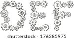 vector alphabet of cheerful... | Shutterstock .eps vector #176285975