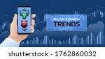bullish   bearish trends in... | Shutterstock .eps vector #1762860032