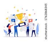 successful business team... | Shutterstock .eps vector #1762868345