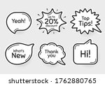comic chat bubbles. top tips ...   Shutterstock .eps vector #1762880765