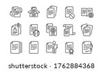 documents line icons set.... | Shutterstock .eps vector #1762884368