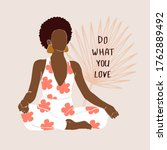 positive african american woman ...   Shutterstock .eps vector #1762889492