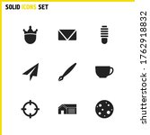 mixed icons set with send mail  ...
