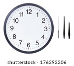Blank Clock Face With Hour ...