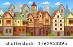 seamless pattern of medieval... | Shutterstock .eps vector #1762953395