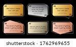 set of premium quote template.... | Shutterstock .eps vector #1762969655