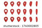 3d map pin pointer. location... | Shutterstock . vector #1763002805