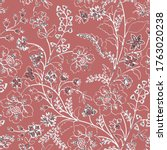indian floral paisley pattern... | Shutterstock .eps vector #1763020238