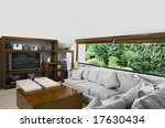 tv room with forest view | Shutterstock . vector #17630434