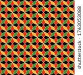 kwanzaa seamless pattern  ... | Shutterstock . vector #1763053088