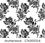hand drawn by the beautiful... | Shutterstock .eps vector #176305316