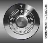 steel combination lock ... | Shutterstock .eps vector #176307038