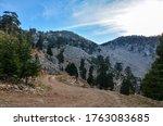 View To Mountain Ridge In...