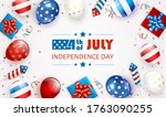 independence day background and ... | Shutterstock .eps vector #1763090255