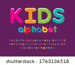 colorful stylized alphabet... | Shutterstock .eps vector #1763136518