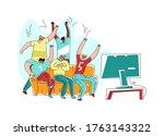 vector flat illustration...   Shutterstock .eps vector #1763143322