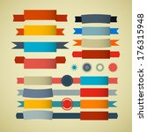 retro ribbons  labels  tags set | Shutterstock . vector #176315948
