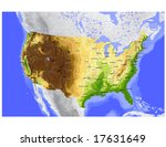 usa. vector map of the... | Shutterstock .eps vector #17631649