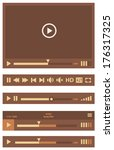 flat ui design media player...