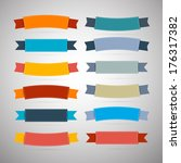 labels  tags  ribbons set in... | Shutterstock . vector #176317382