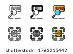 barcode scanner icon. with...
