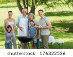 portrait of an extended family... | Shutterstock . vector #176322536