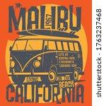 old vintage camp car for summer ... | Shutterstock .eps vector #1763237468