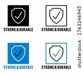 """strong   durable"" item... | Shutterstock .eps vector #1763246945"