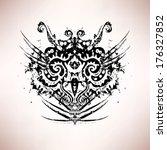 abstract owl head  retro vector ...   Shutterstock .eps vector #176327852
