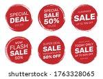 set of sale discount deal stamp ... | Shutterstock .eps vector #1763328065
