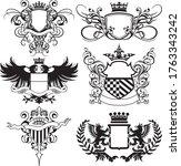 abstract flourished heraldry... | Shutterstock .eps vector #1763343242