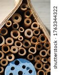 Close Up Of Solitary Bee Hotel