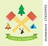 tourism and camping icon set... | Shutterstock .eps vector #176335952