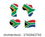 south african flag in various... | Shutterstock .eps vector #1763362742