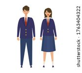 a couple of vector students...   Shutterstock .eps vector #1763404322