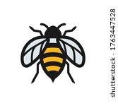 honeybee icon creative... | Shutterstock .eps vector #1763447528