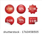 red price labels   discount... | Shutterstock .eps vector #1763458505