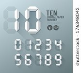 digital number paper and shadow ... | Shutterstock .eps vector #176348042