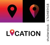 location icon with a colorful...