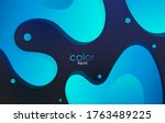 moving colorful abstract... | Shutterstock .eps vector #1763489225