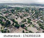 Flooded Village On Ukraine....